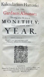 Title-page of Evelyn's 'Kalendarium Hortense'.