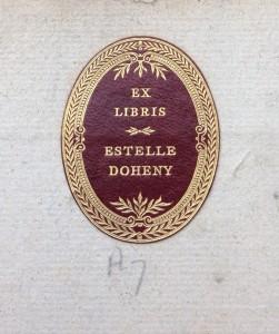 E. Doheny book label