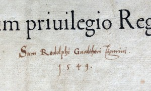 Signature of Rudolf Gwalther