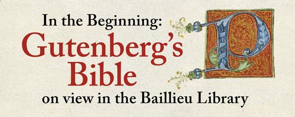 Gutenberg Bible advert banner