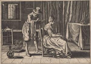 Emblemata XI: De mensch vint baet, in anders quaed (1624)