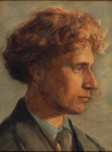 Knud Larsen 1865-1922), Percy Grainger, 1909. Watercolour and graphite on paper. Grainger Museum collection, University of Melbourne