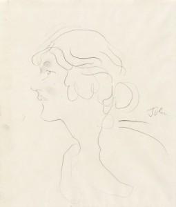 Augustus John (1878-1961), Ella Viola Ström, n.d. Graphite on paper. Grainger Museum collection, University of Melbourne