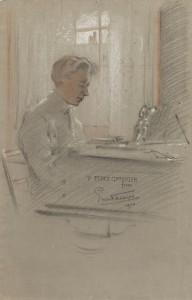 Ernst Thesiger(1879-1961), Percy Grainger, 1903. Pastel on paper. Grainger Museum collection, University of Melbourne