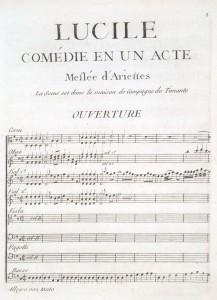 Opening of Grétry's Lucile (Paris, 1769; LHD 052)