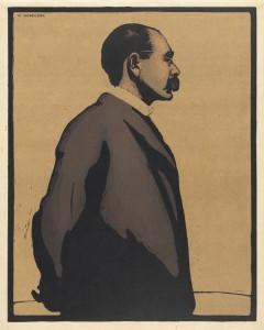 William Newzam Prior Nicholson (1872-1949), Rudyard Kipling, 1899. Lithograph. Grainger Museum collection, University of Melbourne