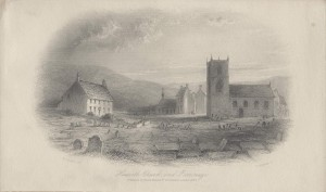 Engraving of Haworth Church and Parsonage, Rare Books Collection