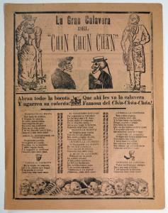 José Guadalupe Posada, La Gran Calavera de Chin Chun Chan, (c. 1910)