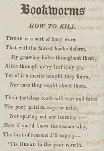 Bookworm poem