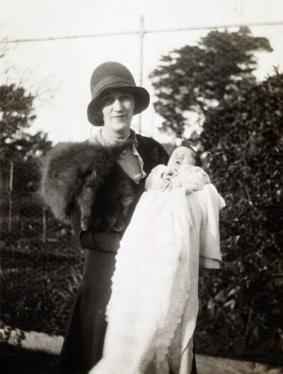 Una Fraser with Malcolm Fraser, 1930