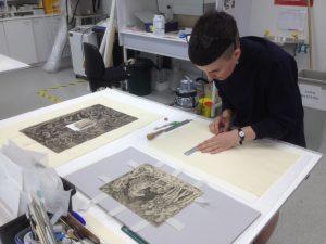 Print mounting process