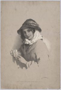 Girl playing with cards