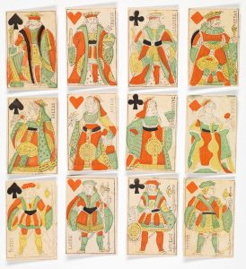 Piquet face cards