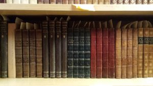 A selection of Sir Walter Scott volumes from the English Rare Book Collection