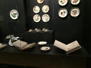 """Books on loan from the Rare Books Collection on display in the exhibition """"Japonisme,"""" National Gallery of Victoria"""