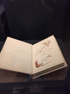 """Rare book on display in the exhibition """"Japonisme,"""" National Gallery of Victoria"""
