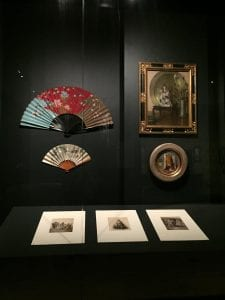 Items on display in the exhibition Japonisme, National Gallery of Victoria