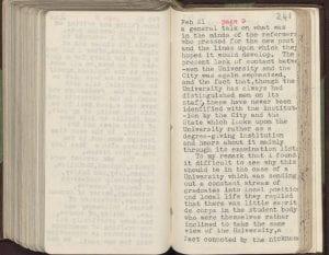 Raymond Priestley's Australian diary, 21 February 1935