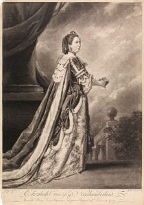 Richard Houston (after Joshua Reynolds), Elizabeth Countess of Northumberland, Baroness Percy, Lucy, Poynings, Fitzpain, Bryan, and Latimer, c. 1759. Mezzotint