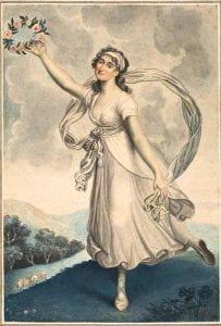 Attributed to Arthur William Devis, Mademoiselle Parisot, c. 1797, pencil, watercolour.