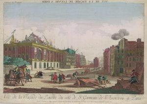 Vue d'optique: Vue de la Facade du Louvre à Paris (1770-90)