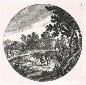 Cornelis Danckerts, Landscape with a bridge, (17th century)