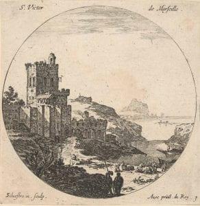 Israel Silvestre, St.Victor de Marseille (17th century)