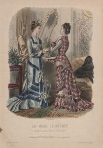 Unknown artist La mode illustree, etching, colour, 1878