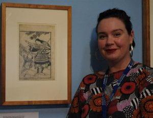 Lauren Ellis in the Noel Shaw Gallery