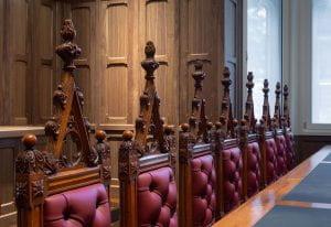 Joseph Reed (designer), George Thwaites & Son (manufacturer), Heritage Council Chamber furniture c. 1864–66