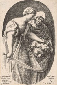 Oliviero Gatti after Pordenone, Judith with the Head of Holofernes, (1606), engraving.