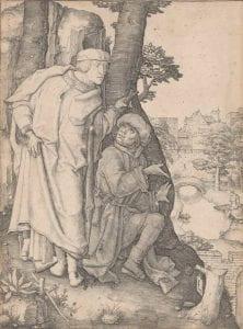 Lucas Van Leyden, Susanna and the Elders, (c.1508), engraving.