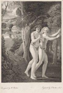 John Augustus Richter after Henry James Richter, Adam and Eve Leaving the Garden of Eden (Paradise Lost), (1795), stipple engraving.