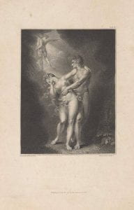 Anker Smith after Henry Fuseli, Expulsion from Paradise from Paradise Lost, 1802, etching, engraving.
