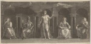 Francesco Bartolozzi after Thomas Stothard, Pandemonium (Paradise Lost), 1792, stipple, etching.
