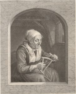 Willaim Greatbach after Gerrit Dou, The winder, 1878, engraving.