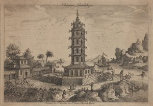 Attributed to John June after Augustin Heckel, Chinese Landskip 1, (1750-1760), etching.