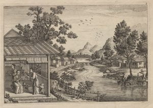 Attributed to John June after Augustin Heckel, Chinese Landskip 3, (1750-1760), etching.