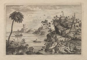 Attributed to John June after Augustin Heckel, Chinese Landskip 4, (1750-1760), etching.