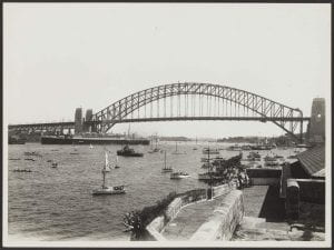 Water Pageant on Sydney Harbour as Seen from Admiralty House, 1933