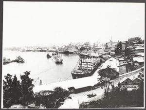 Circular Quay and Shipping, Brisbane, Queensland, 1936