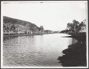 Creek scene, De Grey River, North West, Western Australia, 1921