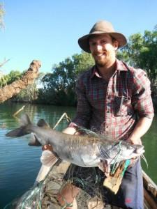 James and big catfish