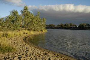Australian river and beach