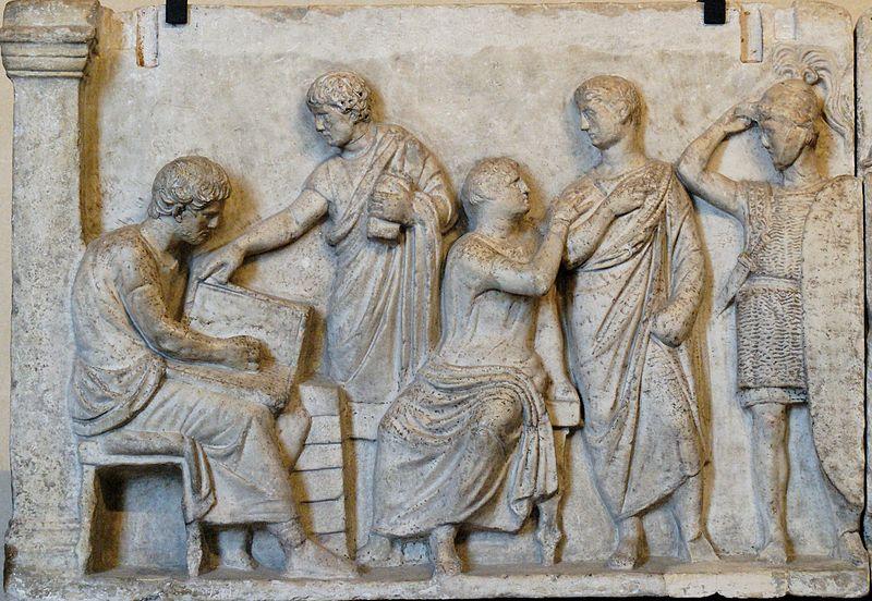 Altar of Domitius Ahenobarbus with detail of census scene