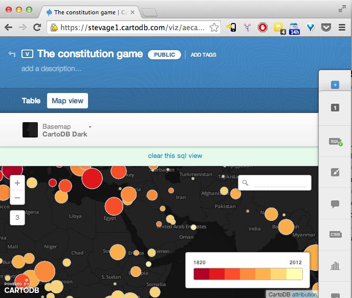 Screenshot of CartoDB