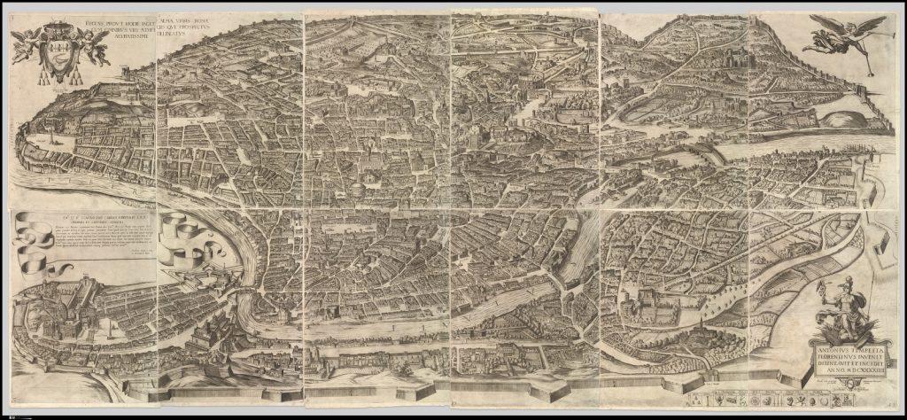 Antonio Tempesta's Map of Rome, 1645