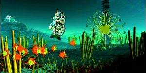Hidden Creatures Exhibition, 'Fishbert's Deep Sea Adventure', 2012, designed by VCA Animation Staff Paul Fletcher and Robert Stephenson