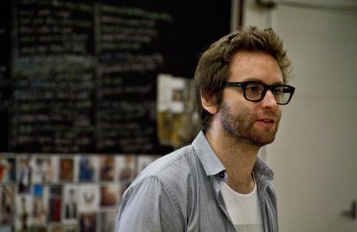 Sam in rehearsal for STC's 'Les Liaisons Dangereuses', 2012, photographer: Grant Sparkes-Carroll.