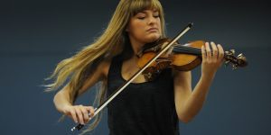 """What does the term """"classical music"""" mean to us in the 21st century? Scottish classical violinist Nicola Benedetti. AAP/ Dean Lewins"""